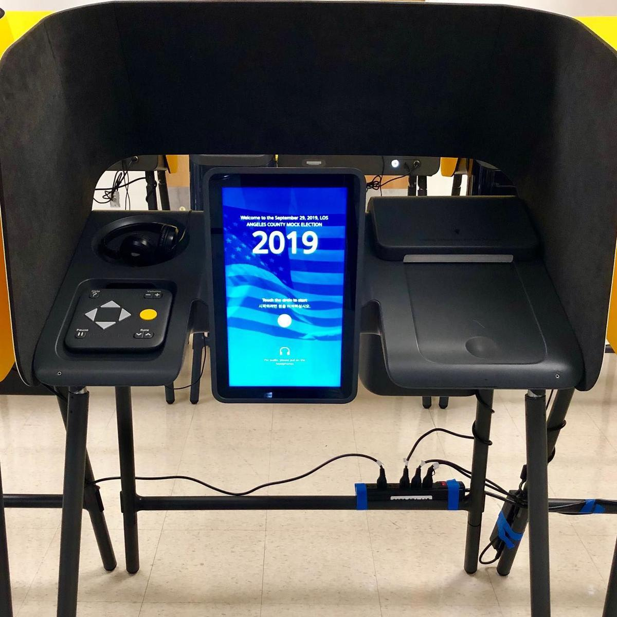 New LA County voting system screen