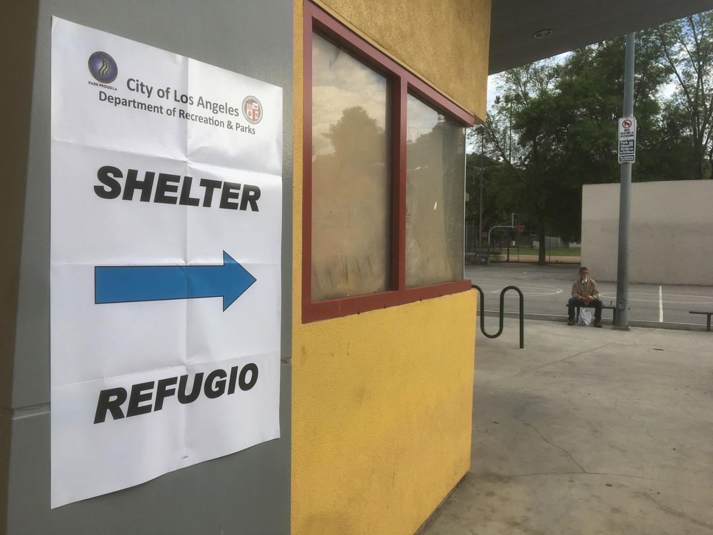Homeless shelter at the Yosemite Recreation Center