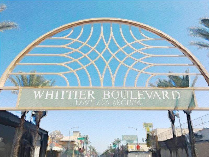 Whittier Boulevard arch photo illustration