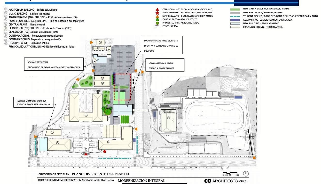 Site Plan of Lincoln High Modernization