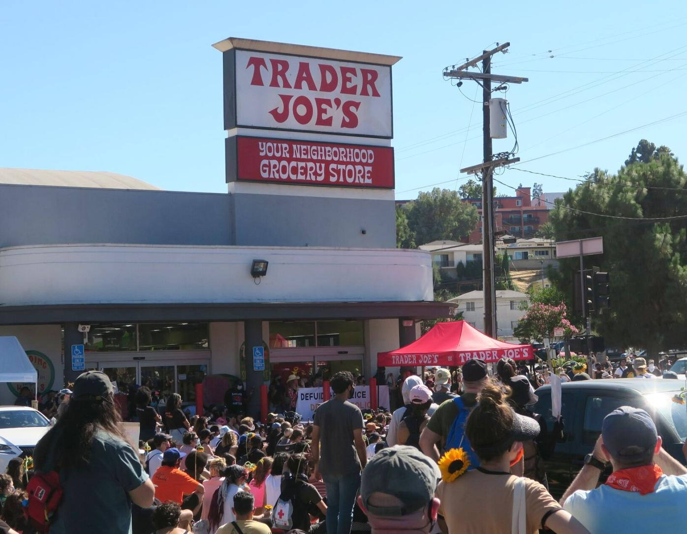 Mely Corado Police brutality protest in silver lake trader joes parking lot 7-9-2020 4-40-36 PM.JPG