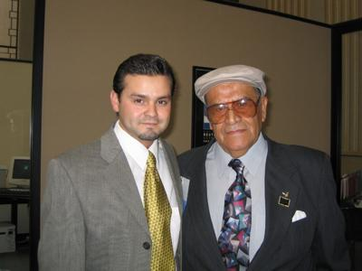 Sergio Valdez with Jaime Escalante