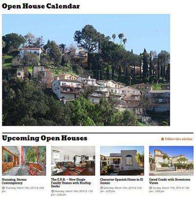 Open House Calendar Example
