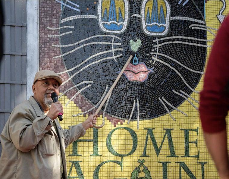 Home again mural unveiling