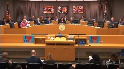 LAUSD school board meeting