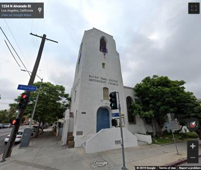 Google Street view of Echo Park United Methodist Church