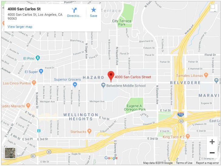Google Map of 4000 san carlo street