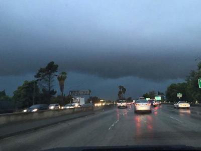 A Monday morning wake up call of rain, thunder and hail
