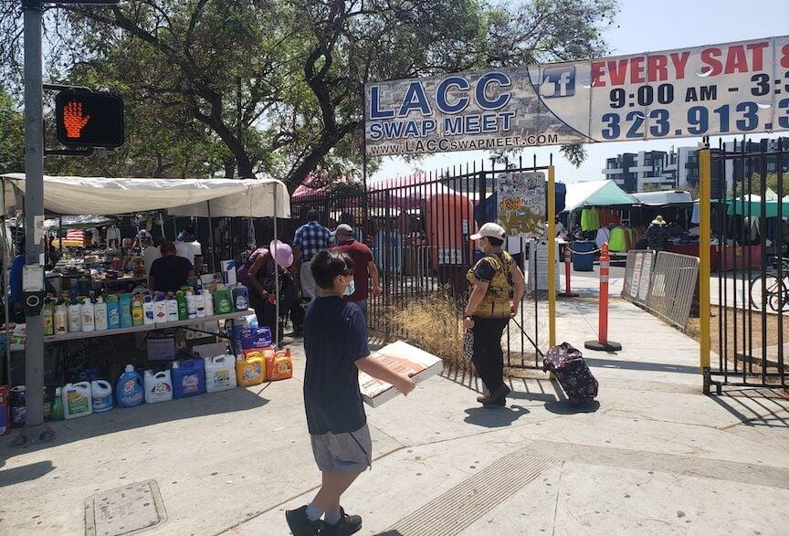LACC Swap Meet entrance