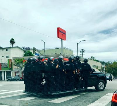 Truckload of police