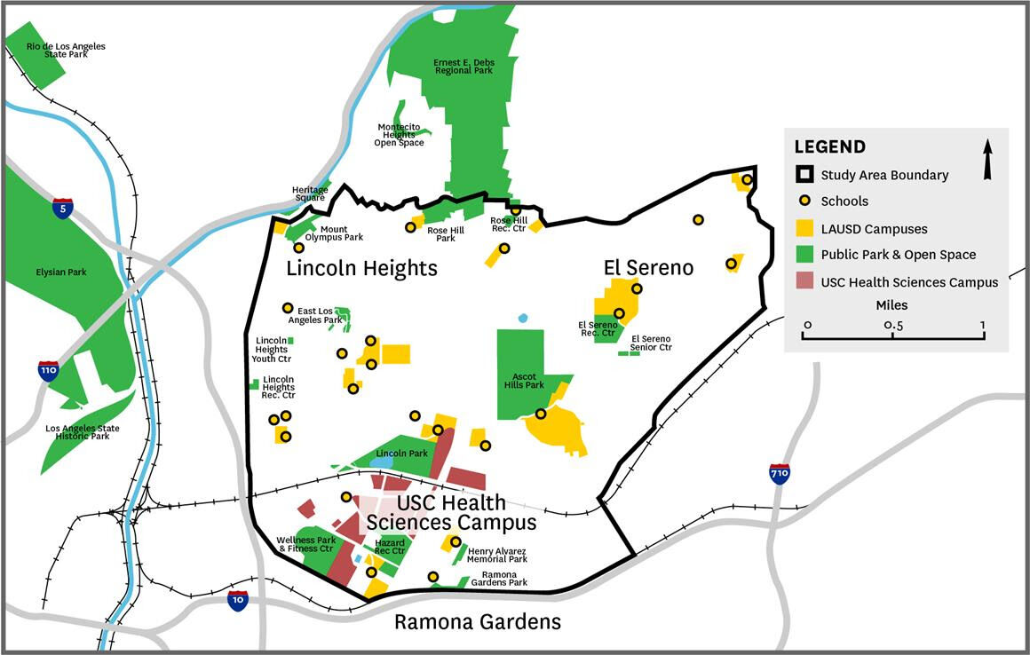 USC Urban Forest Project Map