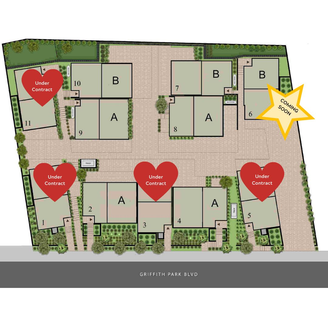 The Griffith Exterior site plan four sold