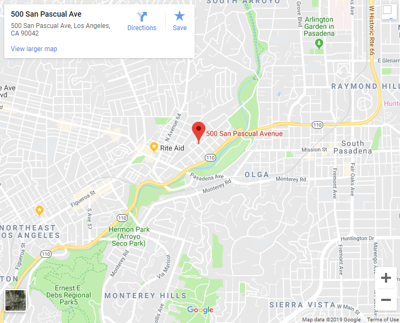 Google map of 500 san pascual avenue highland park