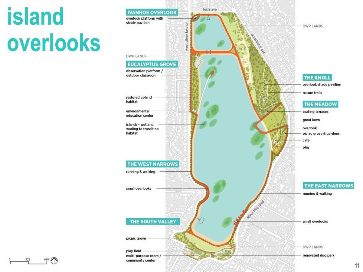 Silver Lake Reservoir - Island Overlooks Map