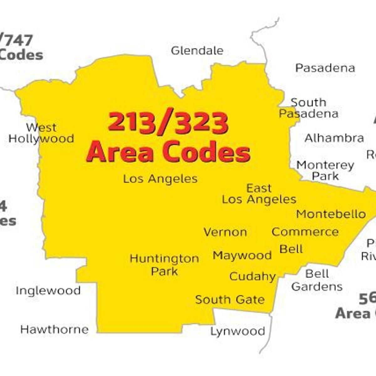 Are you in the 213 or 323 area code? Prepare to change how you make  Area Code Map on beverly hills area code, 530 area code, map of united states area code, 451 area code, orange county florida area code, 661 area code, 734 area code, 866 area code, 416 area code, 916 area code, 619 area code, 312 area code, 301 area code, 626 area code, 714 area code, 507 area code, 212 area code, 305 area code, 438 area code, 520 area code,