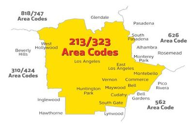 Are you in the 213 or 323 area code? Prepare to change how you make  Area Code Map on