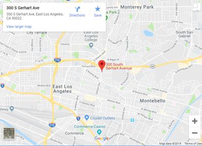 Google map of 300 S. Gearhart  East LA