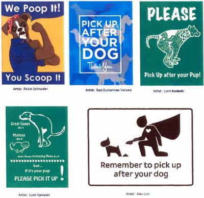 Silver Lake gets creative with dog park pick-up-the-poop signs