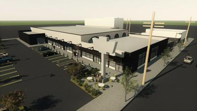 Rendering of renovated former Big Saver shopper center in Cypress Park