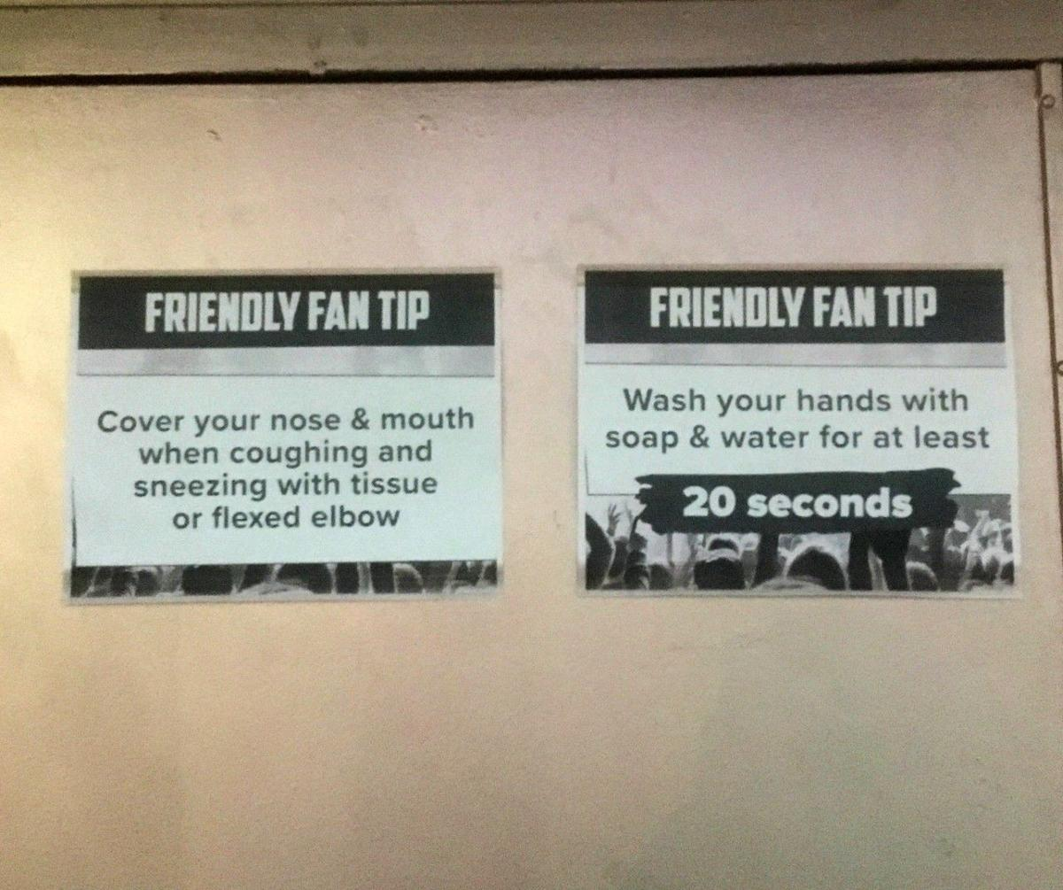 Hygiene tips at The Echo