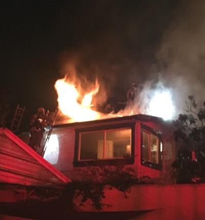 Fire breaks out in Echo Park home