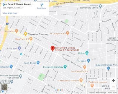 map of cesar chavez and savannah