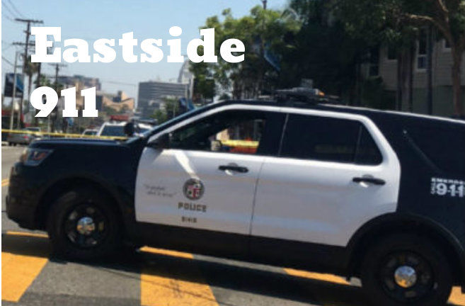 Suspected stolen vehicle crashes into Gold Line train and Highland Park building [updated]