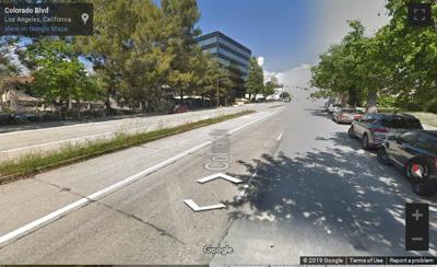Google Street View of Colorado Boulevard Eagle Rock