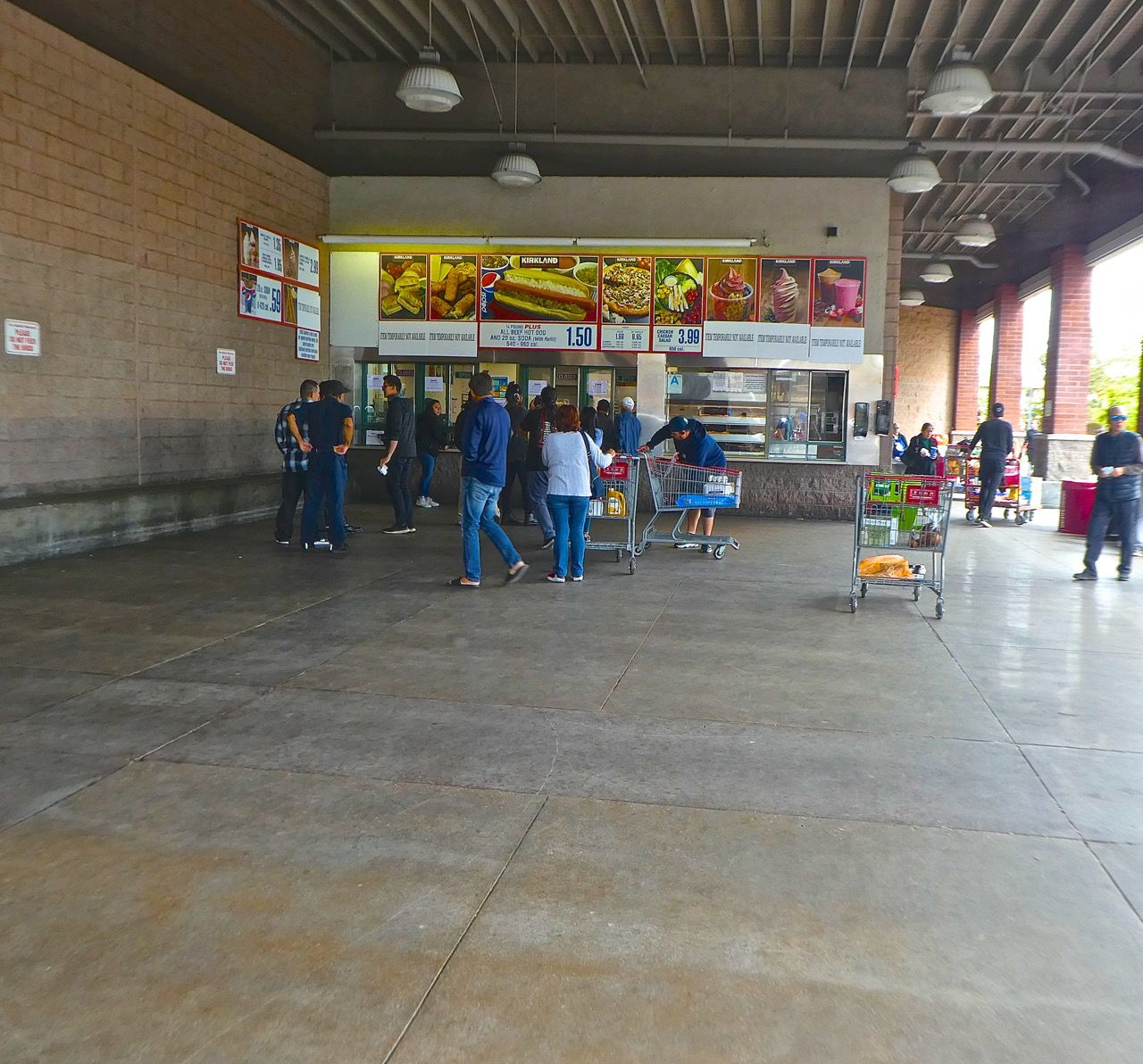 Food stand at Costco
