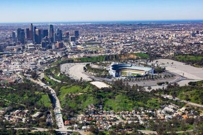 Dodger Stadium Aerial view March 2019