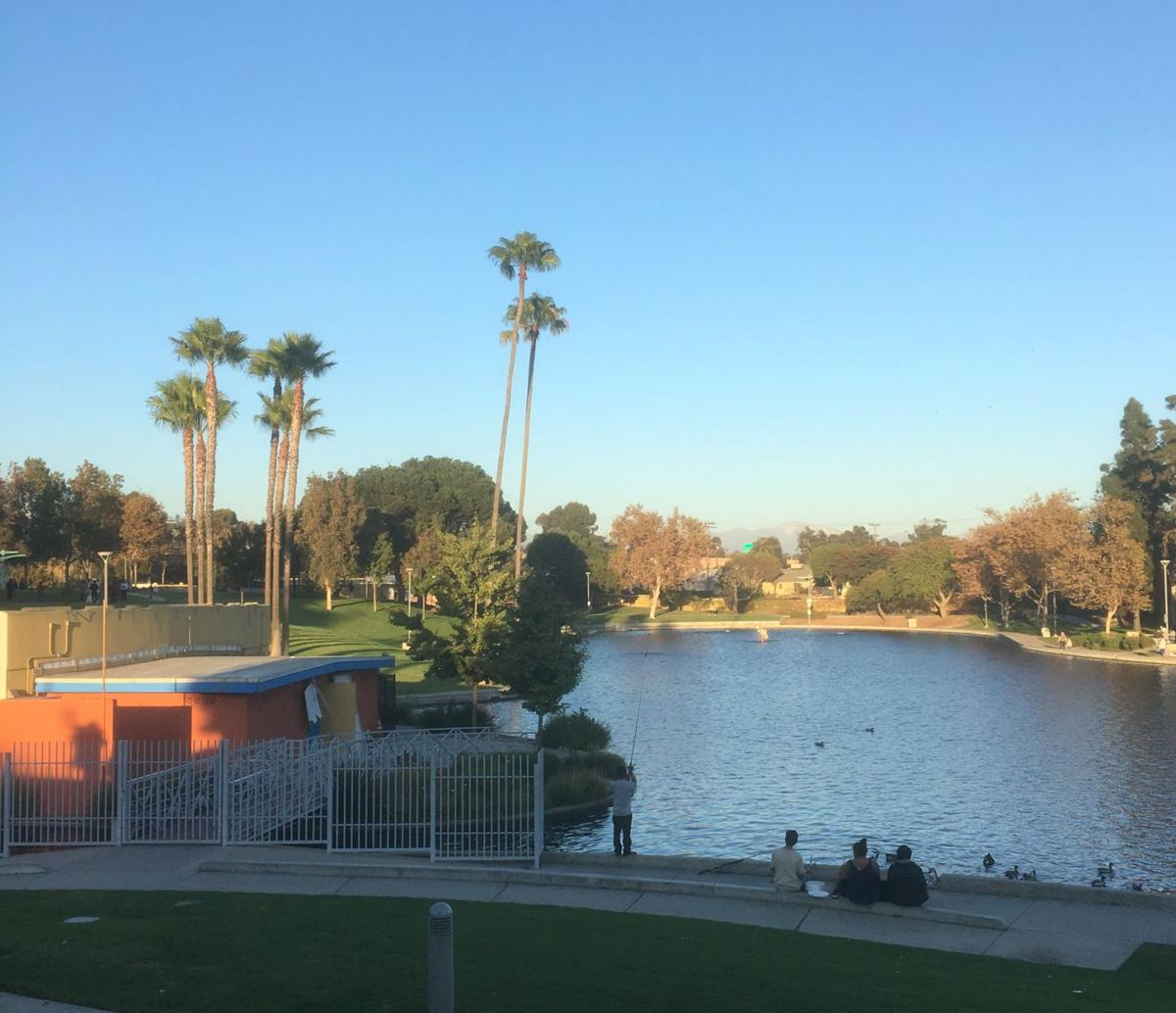 Belvedere Park Lake at the East LA Civic Center