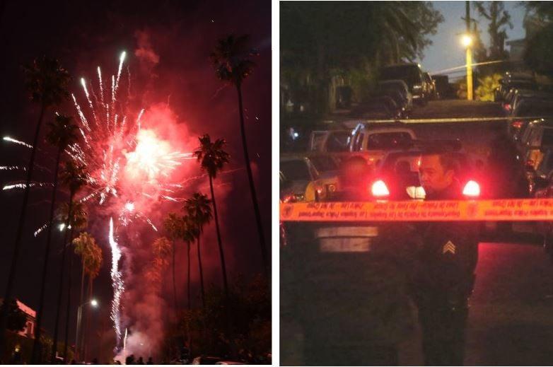 Fireworks or gunfire