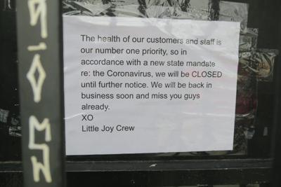 signs of coronavirus closures on restaurants and bars 3-5-2020 6-10-06 PM.JPG