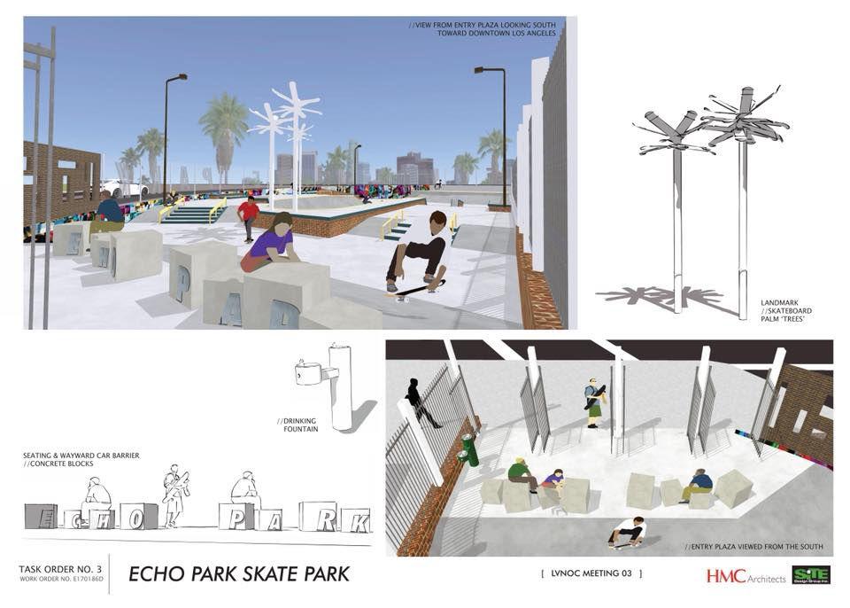 Echo Park Skate Park renderings