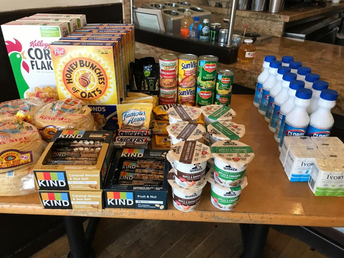 Groceries for sale at Tierra Mia