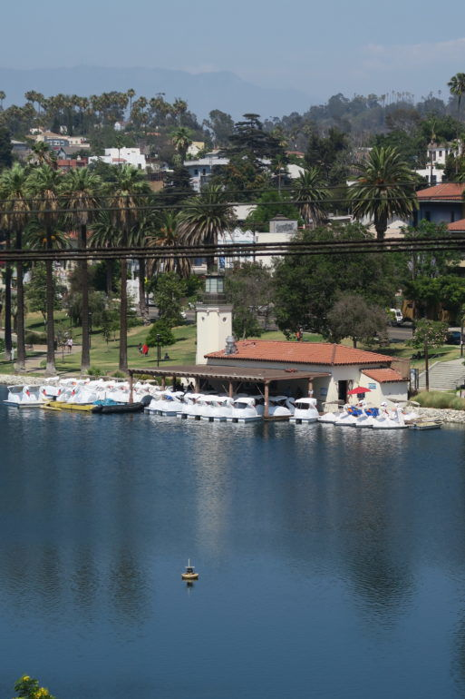 How clean is the water at Echo Park Lake?