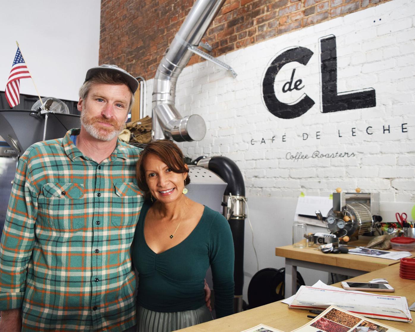 Cafe de Leche - Owners Anya and Matthew Schodorf