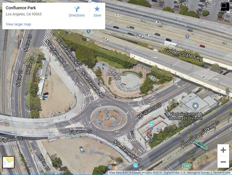Google Map View of Confluence Park