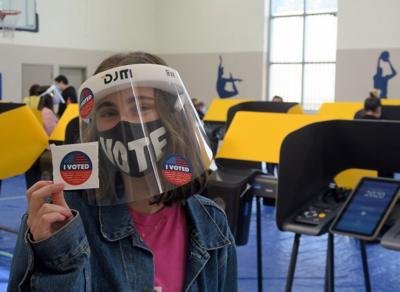 Echo Park Vote Center worker