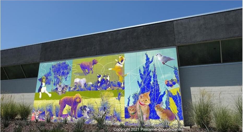 Rendering of Animal Shelter mural