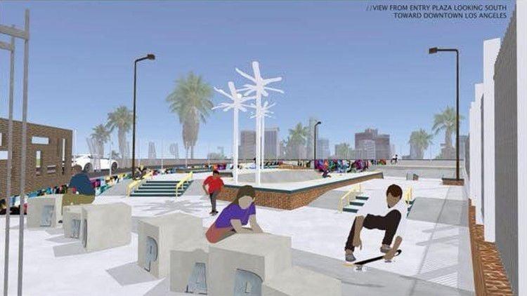 Echo Park Skate Park Rendering