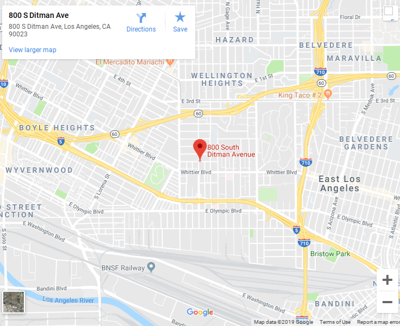 Google map of 800 south ditman avenue east los angeles