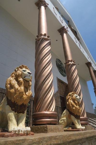 The front of La Luz Del Mundo in East Los Angeles