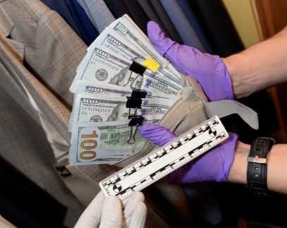 cash found in huizar suit