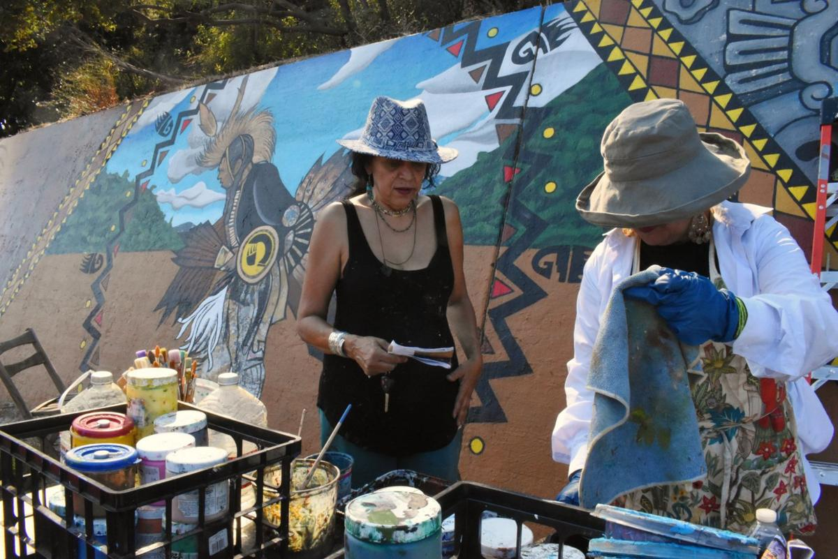 Southwest Museum Mural restoration with pola lopez photo by nathan solis 10-11-2019 2-29-16 PM.JPG