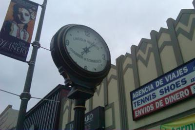 Time turns the Lincoln Heights street clock in a different direction