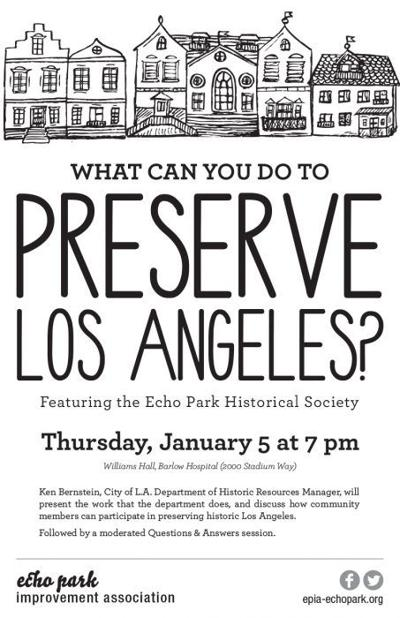 Bulletin Board: EPIA January Town Hall Presents 'Preserving Los Angeles'