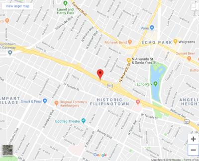 Pedestrian killed on 101 Freeway in Echo Park area