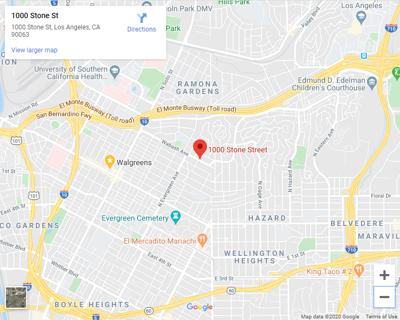 Google maps of 1000 stone street