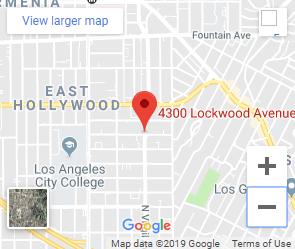 Google map of 3400 lockwood avenue east hollywood
